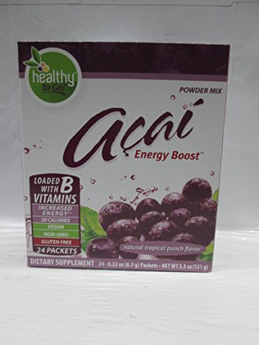 Para ir de marcas - saludables ir Acai Natural Energy Boost Tropical Punch - 24 PA...