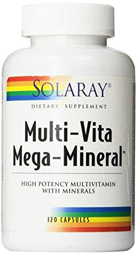 Solaray multi-Vita Mineral Mega multi vitaminas cápsulas, 120 cuenta
