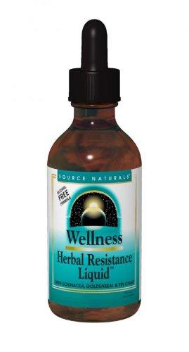 Source Naturals bienestar Herbal resistencia líquido (fórmula libre de Alcohol), 4 onzas