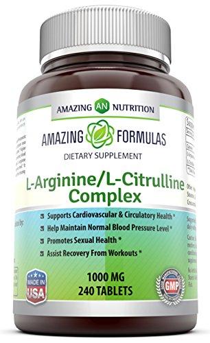 Increíble nutritiva ' L-arginina / L-citrulina complejo (1000 Mg - 240 tabletas)