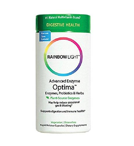 Luz de arco iris avanzado enzima Optima, cuenta 90 Vcaps