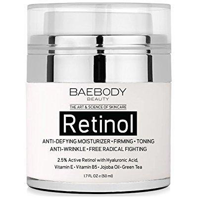 retinol crema hidratante para la cara y los ojos área - con 25% de retinol activo el ácido hialurónico vitamina e. contra f