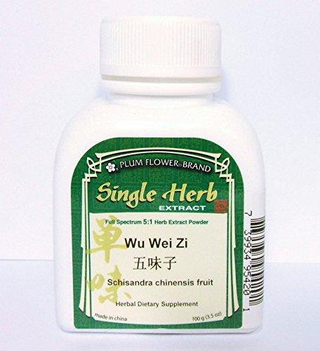 Polvo del extracto de Schisandra Chinensis fruta, hierba / Wu Wei Zi, 100g o 3.5oz