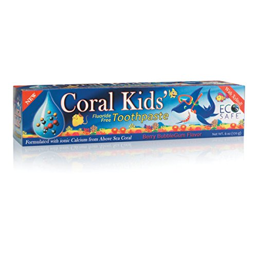 Coral infantil pasta dental sabor chicle de Berry 6 oz.
