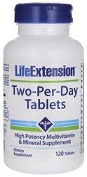 Extensión de la vida dos por día tabletas, cuenta 120