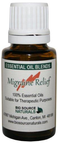 Dolor de cabeza y migraña ReliefTM esenciales aceite mezcla aromaterapia 15 Ml/0.5 Oz con aceites de menta, lavanda, eucalipto, Romero y palo de rosa.