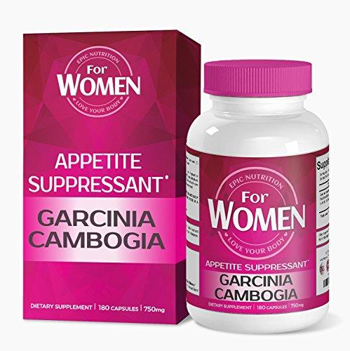 Épica del Garcinia peso pérdida suplemento de la nutrición para las mujeres, supresor del apetito con HCA, quemadura del vientre grasa, USA hizo, 180 cápsulas