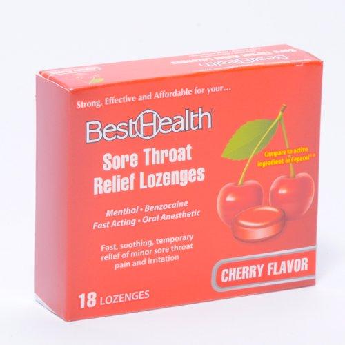 Alivio de dolor de garganta Pastillas cereza sabor 18/bx