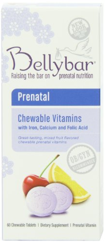 Bellybar vitaminas prenatales masticables, sabor de frutas, 60-Conde