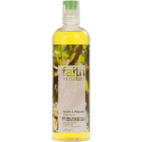 (Paquete de 2) - fe en la naturaleza - Neem y propoleo champú | 400ml | PACK 2 PAQUETE