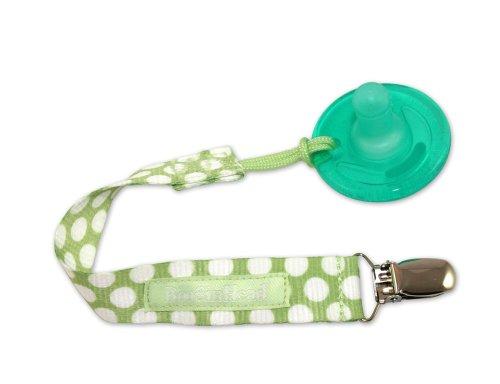 Booginhead PaciGrip chupete titular, delicado punto verde (descatalogado por el fabricante)
