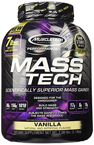 MuscleTech masa tecnología avanzada Gainer masa muscular - vainilla - 7 lbs