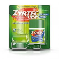 ZYRTEC ALLERGY MEDICINE ALIVIO PARA LAS ALERGIAS 70 TABLETAS DE 10 MG