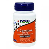 NOW FOODS L CARNITINE 500 MG EFICAZ QUEMADOR DE GRASA 30 CAPS