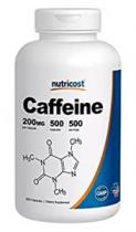 NUTRICOST CAFFEINE OPTIMO SUPLEMENTO ENERGIZANTE 200MG 500 CAPS