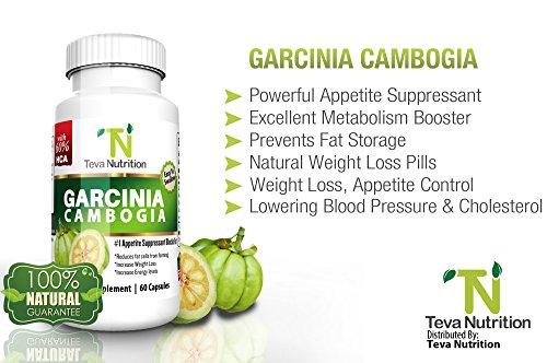 Extracto de Garcinia Cambogia - 60% HCA - mejores suplementos de pérdida de peso - 100% Natural - supresor del apetito - pastillas son fáciles de tragar - suministro para 30 días - excelentes comentarios - USA producto-