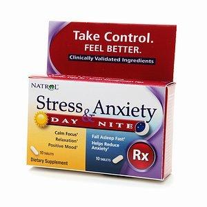 Natrol estrés y ansiedad día y Nite, tabletas 20 ea