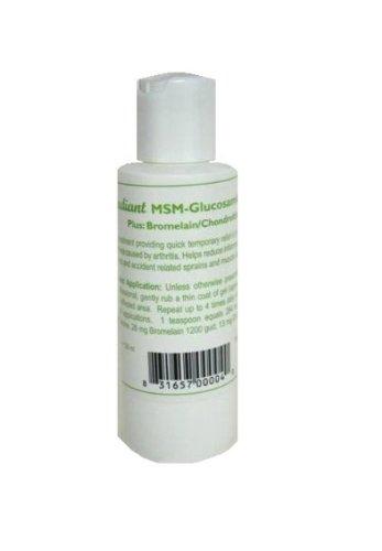 Natural Radiance MSM crema glucosamina bromelina y botella de Chrondroitin, sin olor y sin olor, 4 onzas