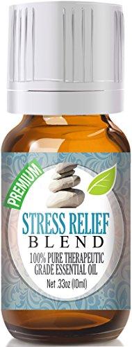 Estrés socorro mezcla aceite 100% puro grado terapéutico mejor esenciales 10ml - naranja de sangre de bergamota, pachuli, Ylang Ylang, pomelo