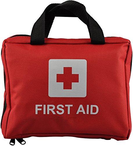90 pieza Premium bolsa Kit de primeros auxilios - incluye Lavaojos, 2 x compresas frías (hielo) y manta de la emergencia