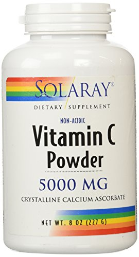 Suplemento cristalino Solaray C no-ácida, 5000 mg, 8 onzas
