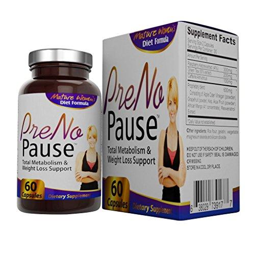 PreNoPause: Menopausia-pérdida de peso y metabolismo suplementos (Extracto de cetona de la frambuesa, extracto de té verde, vinagre de manzana, toronja en polvo, extracto de algas, cafeína anhidra, fruta de Acai, Resveratrol, concentrado de Mango Africano