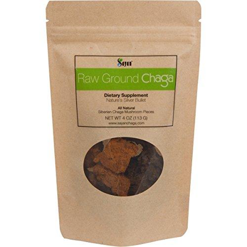 Seta de Chaga crudo siberiano pedazos trozos - Super antioxidante de té, soporta sistema de inmunológico (4 onzas)