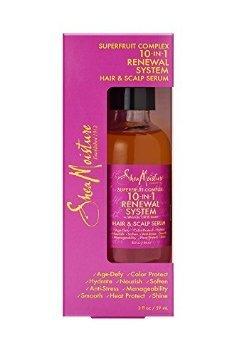 Humedad de karité superfruta 10 complejo en 1 renovación sistema pelo y cuero cabelludo suero 2 Oz