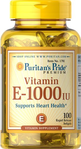 Orgullo vitamina E 1000 IU 100 Softgels de Puritan