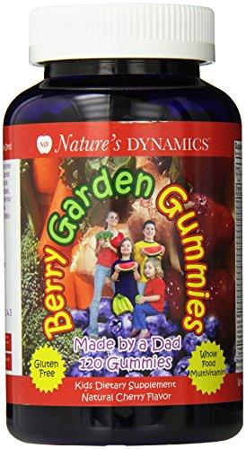 Multivitaminas cereza Berry jardín gomitas orgánicos alimentos infantiles sabor (cuenta 120)