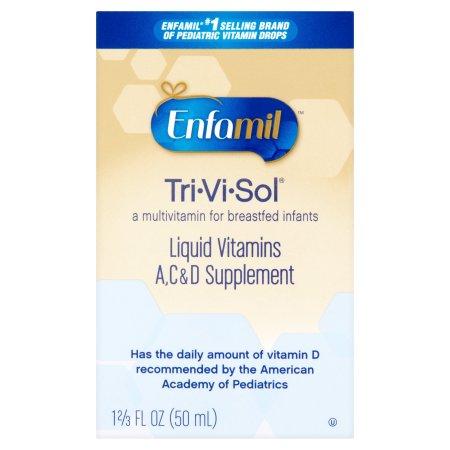 Enfamil Tri-Vi-Sol Liquid Vitaminas A, C y D Suplemento, 1,67 fl oz