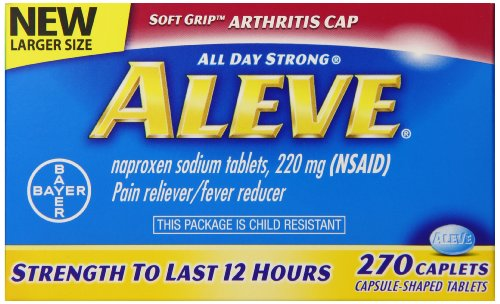 Artritis de Aleve pastillas, cuenta 270