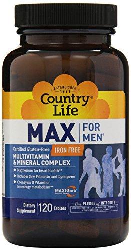 Máximo de vida de país para los hombres Maxi-Sorb multi vitaminas y minerales 120 comprimidos