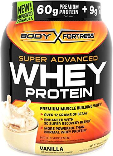 Fortaleza de cuerpo Super avanzada proteína de suero de leche en polvo, vainilla, 2 libras