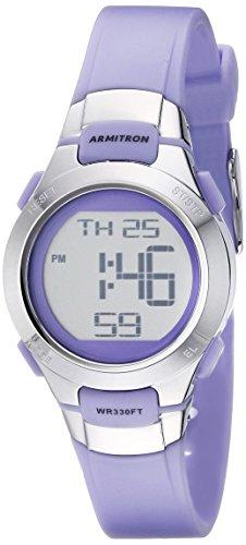 De la deporte Armitron mujer 45/7012PRSV morado y un tono de plata reloj Digital