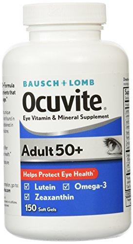 Bausch y Lomb Ocuvite adulto 50 + ojo vitamina y Mineral suplemento - 150 Cápsulas