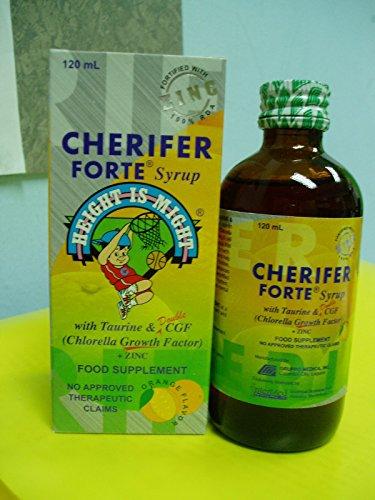 CHERIFER FORTE jarabe con taurina y doble Factor de crecimiento de Chlorella + Zinc 120ml