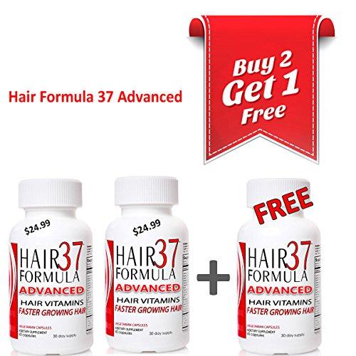 Fórmula de pelo 37 avanzada pelo vitaminas para el crecimiento del pelo rápido (comprar 2 GET 1 gratis oferta especial!)