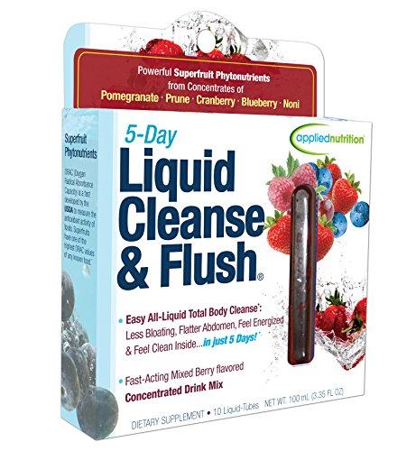 Aplicada nutrición 5 días líquido limpiar y vaciar, acción rápida mezclada Berry limpieza Total del cuerpo, cuadro de tubos 10-Twist, 100ml(3.35Floz)