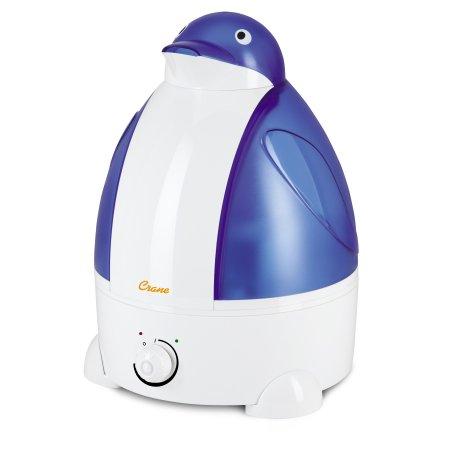 Adorable grúa por ultrasonidos humidificador de vapor frío - Pingüino