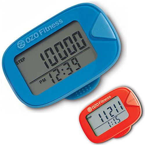 OZO Fitness podómetro SC1 - podómetro mejor para caminar, un rastreador de Fitness Personal vestibles para hombres, mujeres y niños. Pasos de pista, calorías quemadas y millas caminaban. ¡ Su contador de paso hoy mismo!