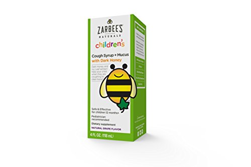 Naturals niños de Zarbee jarabe para la tos, uva + moco alivio, 4 onzas Fl