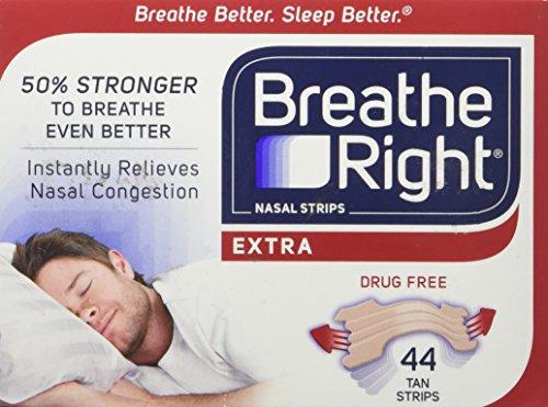 Respirar derecho Extra fuerte tiras nasales un tamaño cabe todos, Tan (ct 44)