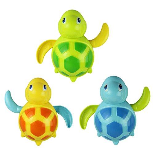 Lookatool® nuevo llevado bebés nadan tortuga herida-para arriba cadena baño animal pequeño juguete juguetes clásicos
