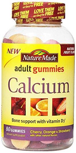 Naturaleza calcio adultos gomitas, cuenta 80