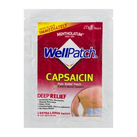 Así Parche para el músculo- Dolor de las articulaciones analgésico tópico W - 0025% de capsaicina alivio del dolor Pad 1 coj