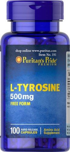 Pride L-tirosina de Puritan 500 mg-100 cápsulas