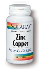 Cinc con cobre Solaray 100 Caps