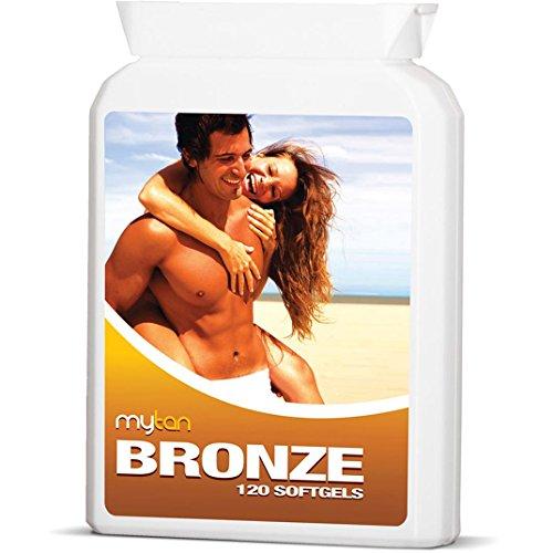 MyTan Bronce bronceado pastillas, 120 cápsulas, ninguna píldora que broncean Sunless de cantaxantina