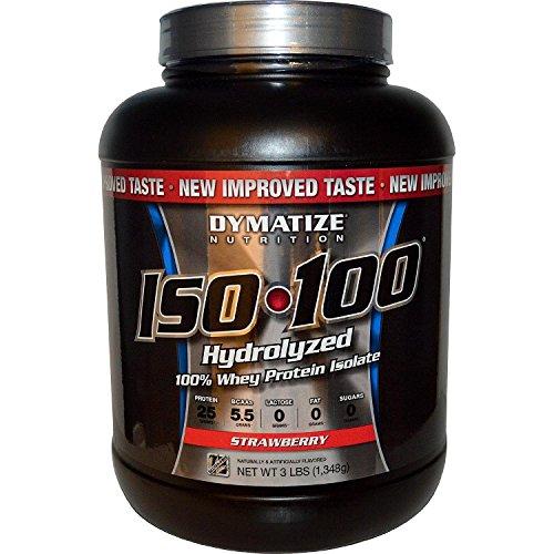 Hidrolizado de Dymatize ISO-100 aislado de proteína de suero 100% - fresales 3 libras